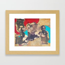 silkscreen test sheet Framed Art Print