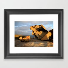 Kangaroo Island Remarkable Rocks Framed Art Print