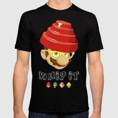 Crack That Whip Mens Fitted Tee Black MEDIUM