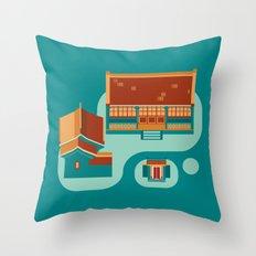 beijing icon Throw Pillow