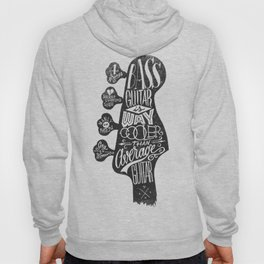 Bass Guitar is Way Cooler than Average Guitar Hoody