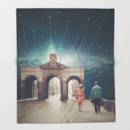 We met as Time Travellers Throw Blanket