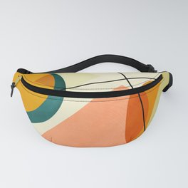 mid century geometric shapes painted abstract III Fanny Pack