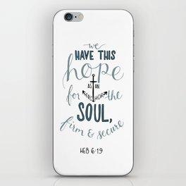 Hebrews 6:19 iPhone Skin