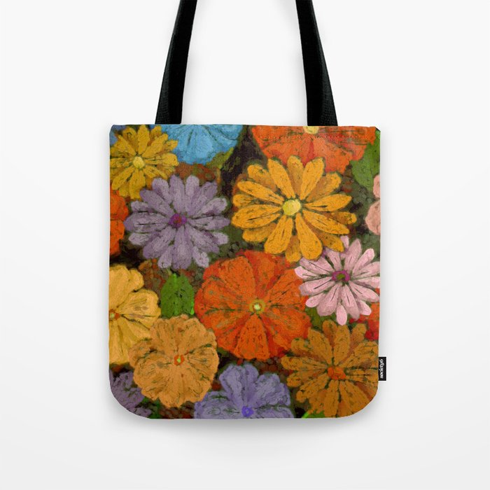 Abstract #422 Flower Power #7 Tote Bag