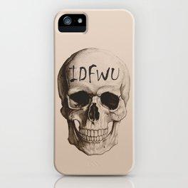 IDFWU Skull iPhone Case