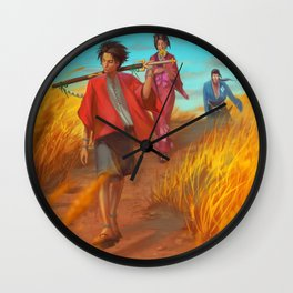 Searching of the Sunflower Samurai Wall Clock