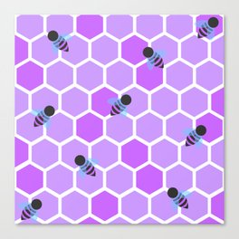 Oh Honey in Purple Canvas Print