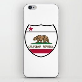 California State Flag In An Interstate Sign iPhone Skin