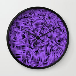 Unusual doodle in gentle colors with a royal violet tint. Wall Clock