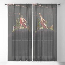 """Satan Preceding over the Infernal Council"" by Jeanpaul Ferro Sheer Curtain"