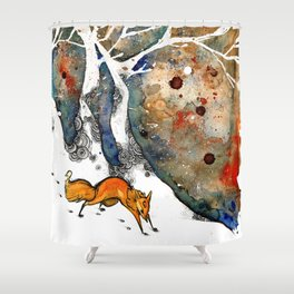 The Winter Fox Shower Curtain