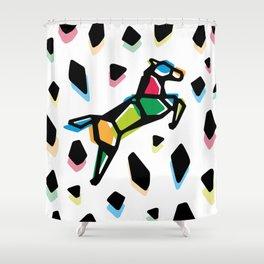 Rainbow Anigami Horse Shower Curtain