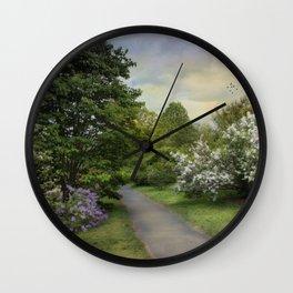 Lilac Lane Wall Clock