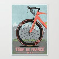 tour de france Canvas Prints featuring Tour De France Bike by Wyatt Design