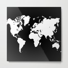 Design 69 world map Metal Print