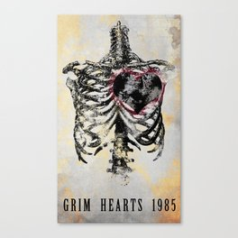 Grim Hearts 1985 Canvas Print
