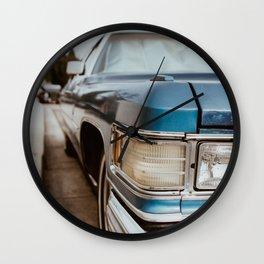 Blue Car Wall Clock