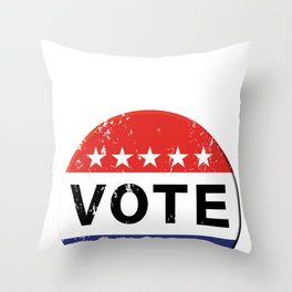 vintage political  retro Throw Pillow