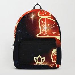 Zodiac red neon — Virgo Backpack