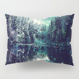 A Cold Winter's Night : Spearmint Teal Green Winter Wonderland Pillow Sham
