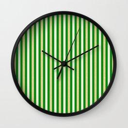 Green and Golden Vertical Wall Clock