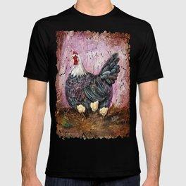 Blue Hen With Chicks Transparent T-shirt