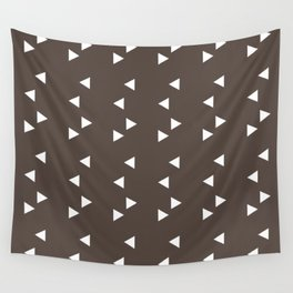 Cappuccino Brown Triangle Wall Tapestry