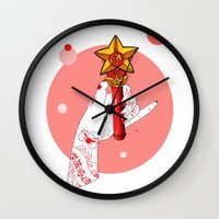 mars Wall Clocks featuring Mars by scoobtoobins