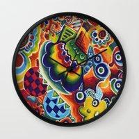 globe Wall Clocks featuring Globe by Leah Moloney