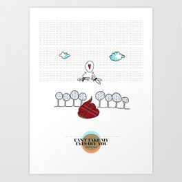 LOVE IN OUR OPINION - CAN'T TAKE MY EYES OFF YOU Art Print