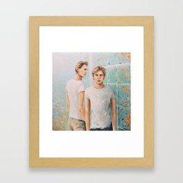 Love at first sight Framed Art Print