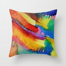 Colour Swirl Throw Pillow