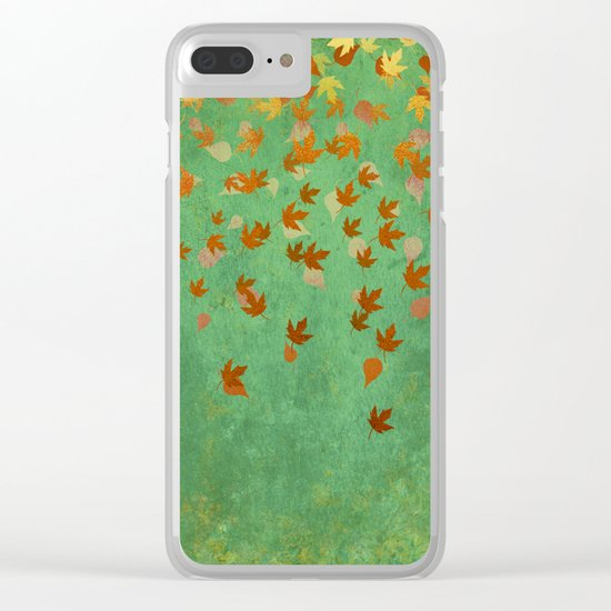 My favourite colour: OCTOBER - Indian Summer - Gold autumnal leaves Clear iPhone Case