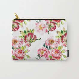 Watercolor pattern with peony flowers Carry-All Pouch