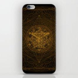 Dark Matter - Gold - By Aeonic Art iPhone Skin