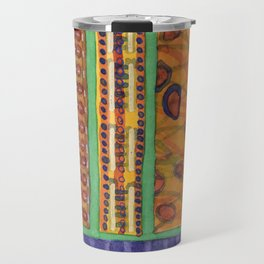 Bordered Catchy Creative Stripes Travel Mug