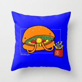 Food Series - Burger Throw Pillow