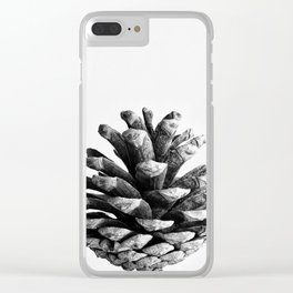 pinecone nature plants Clear iPhone Case