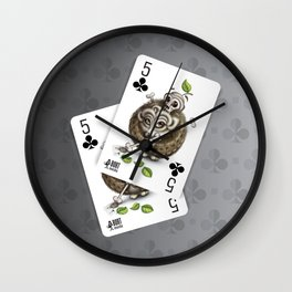 Small but Dangerous / Cards for my arts Wall Clock