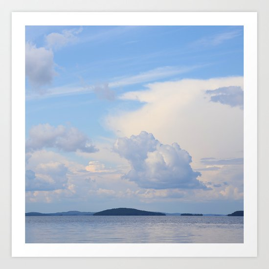 White Clouds In The Blue Sky  Art Print