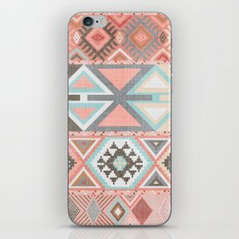 Aztec Artisan Tribal in Pink iPhone Skin
