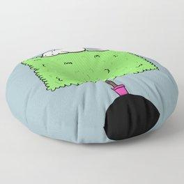 Cat on a bush Floor Pillow
