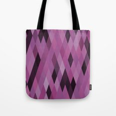 Muted Berry Color Harlequin Pattern Tote Bag