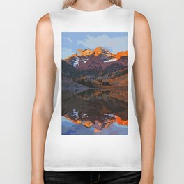 The Wonderful Maroon Bells in Autumn Biker Tank