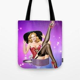 Hat Trick Vintage Pinup Girl Tote Bag