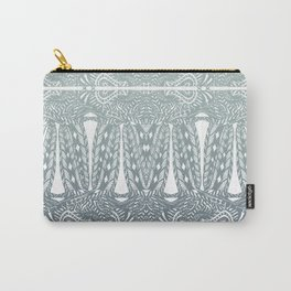 Partridge Pattern - Stormy Sage Carry-All Pouch