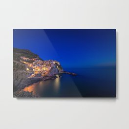 As the night falls over Manarola Metal Print