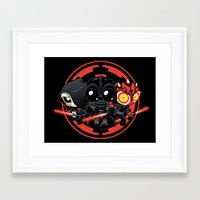 dark side Framed Art Prints featuring Dark Side by Dooomcat