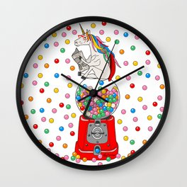 Unicorn POOP Gumballs Wall Clock